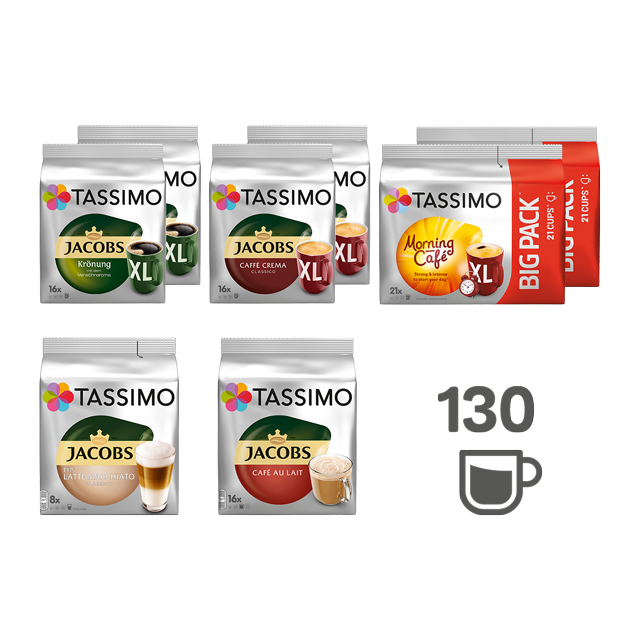 TASSIMO Kaffee Genuss - 8 Kaffeepackungen