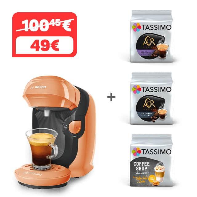 TASSIMO STYLE - peach + 3 paquete de CAFÉ