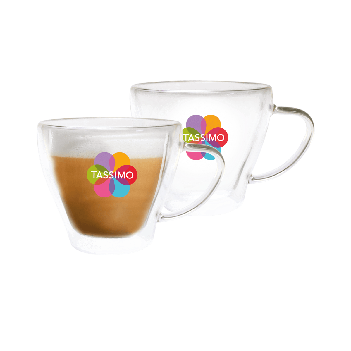 TASSIMO Cappuccino Glasses, pack of 2