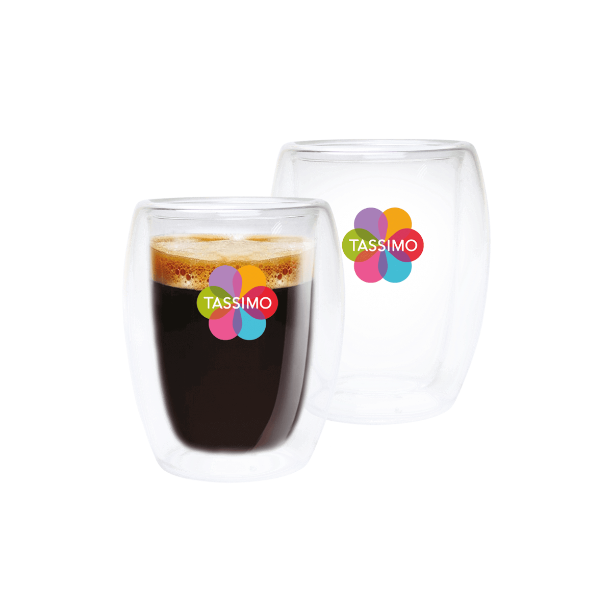 TASSIMO Lungo Glasses, pack of 2