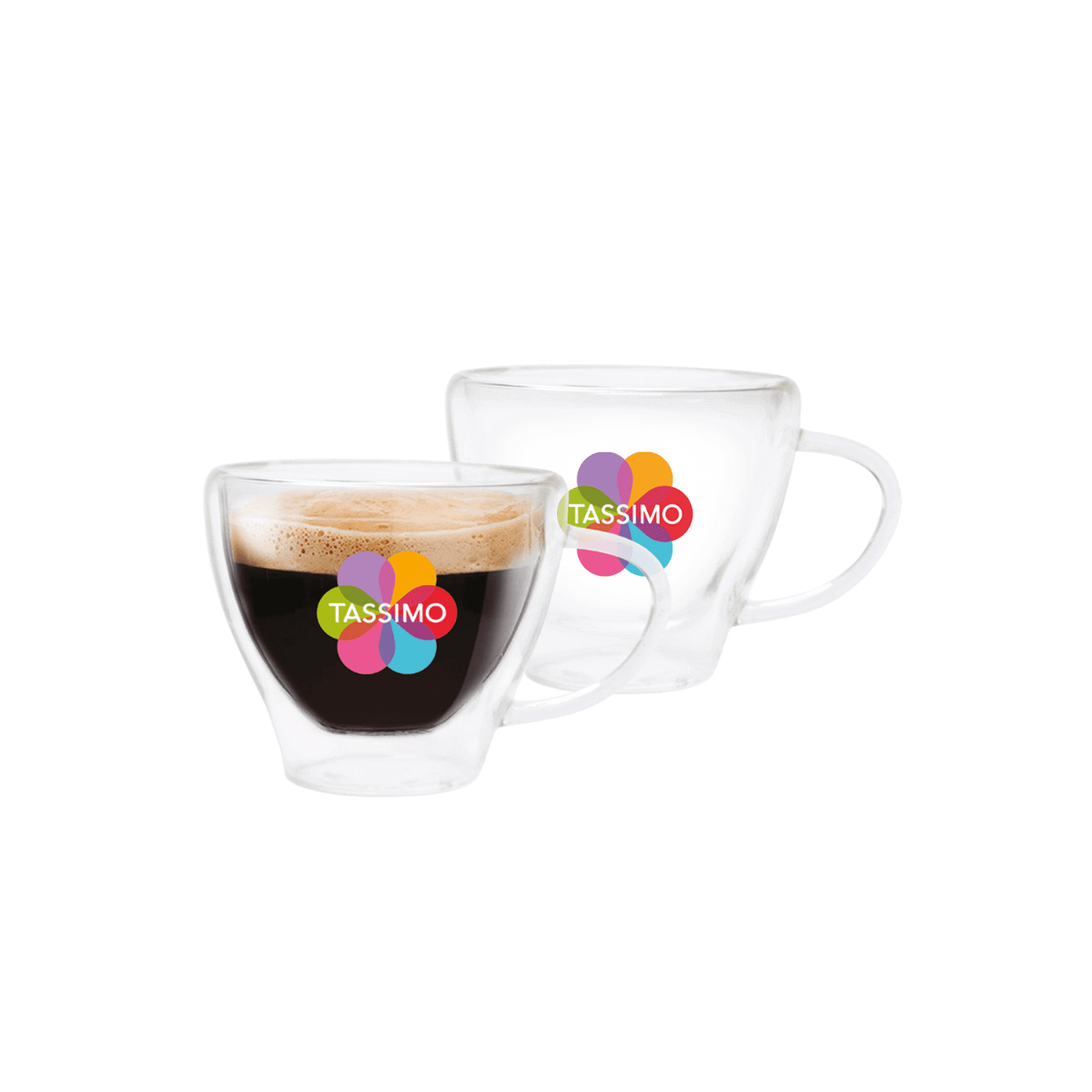 TASSIMO Espresso Glasses, pack of 2