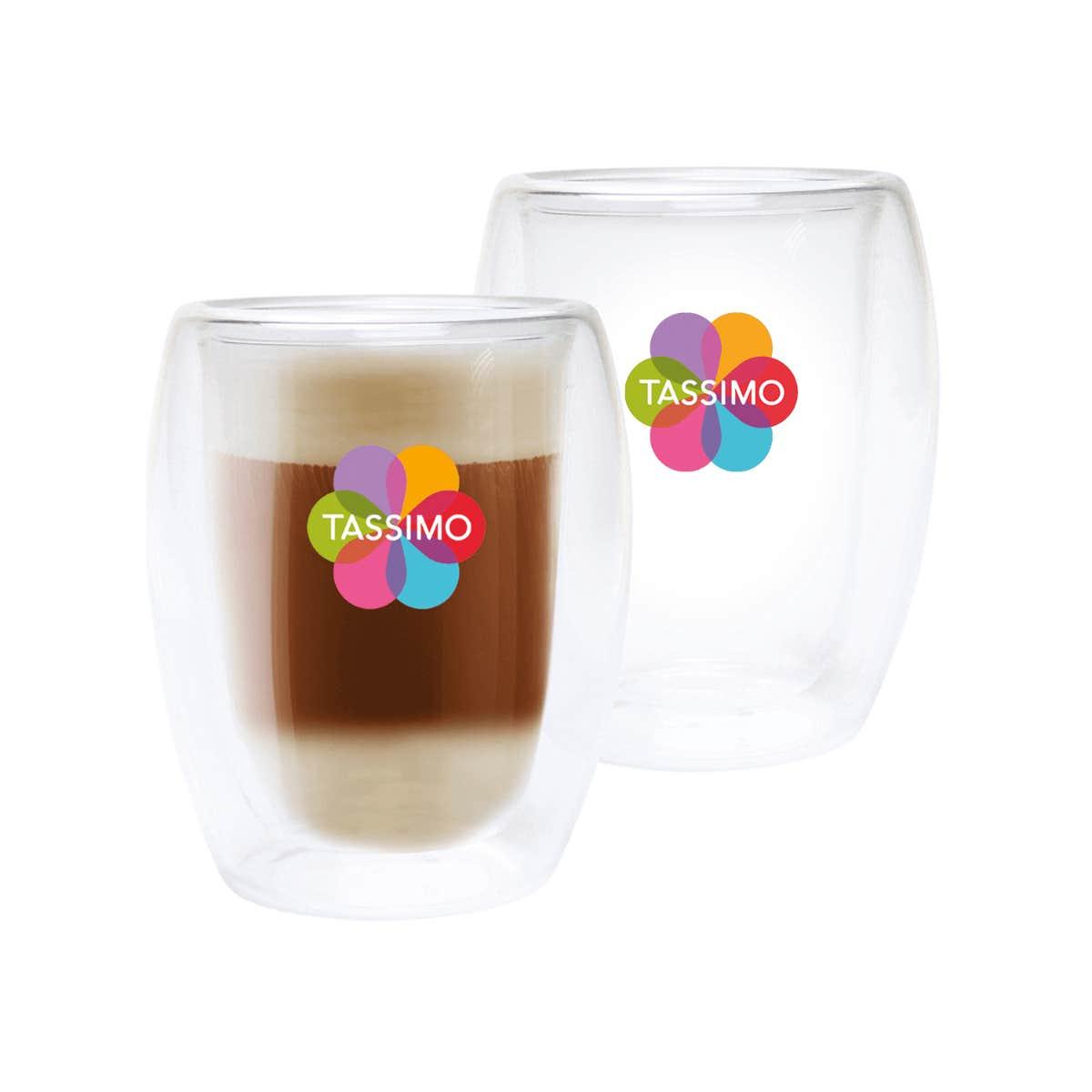 TASSIMO Vasos para latte, paquete de 2
