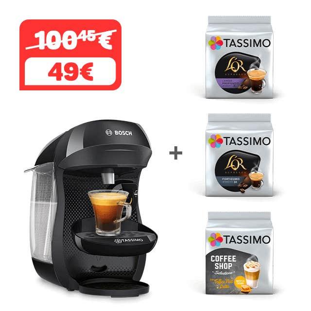 TASSIMO HAPPY - NEGRO + 3 PAQUETES DE CAFÉ