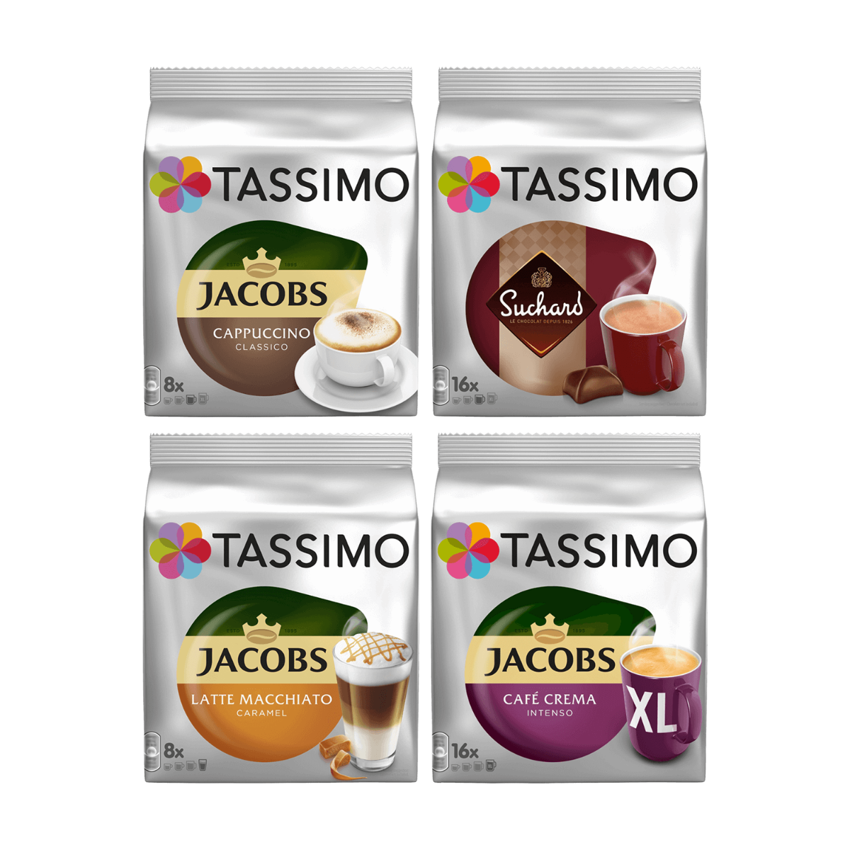 TASSIMO Favoriten-Paket - 4 Kaffeepackungen