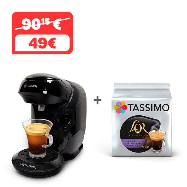 TASSIMO STYLE - negro + 1 paquete de CAFÉ