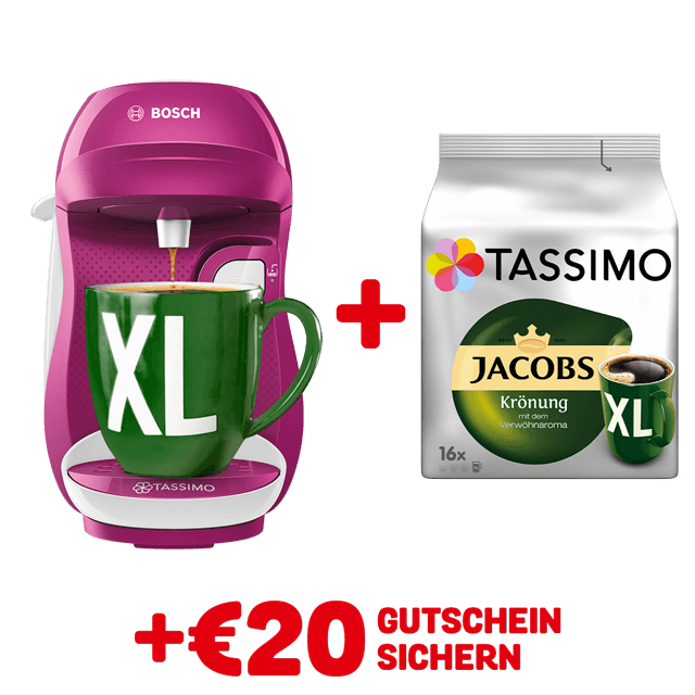 TASSIMO HAPPY Wild Purple + gratis Jacobs Krönung XL