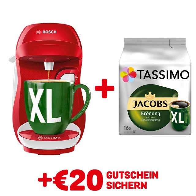 TASSIMO HAPPY Red/ white + gratis Jacobs Krönung XL