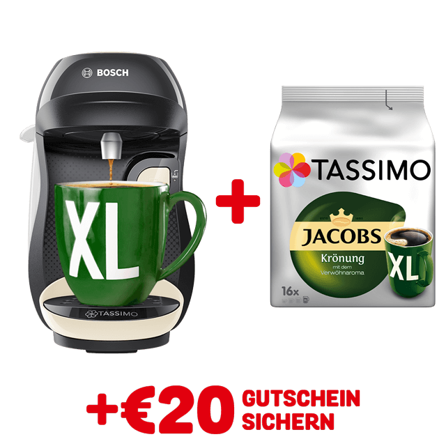 TASSIMO HAPPY Cream + gratis Jacobs Krönung XL