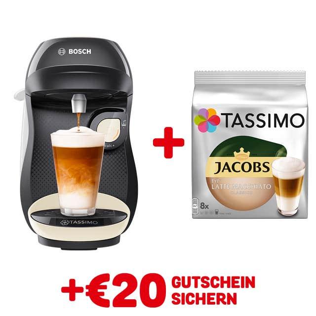 TASSIMO HAPPY Cream + GRATIS JACOBS TYP LATTE MACCHIATO