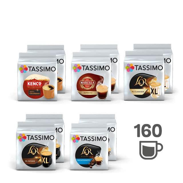 TASSIMO 100% Café - 10 paquetes de café
