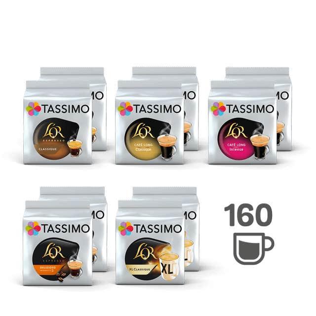 TASSIMO Assortiment 100% Café - 10 paquets