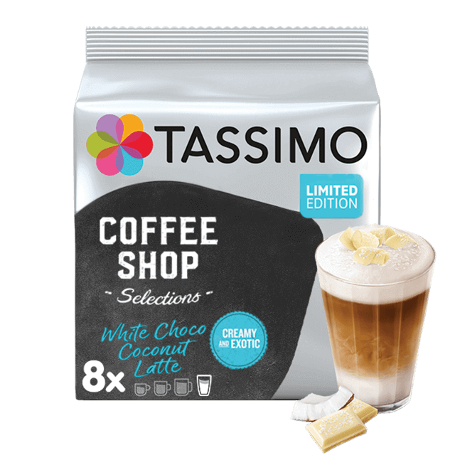 TASSIMO Coconut White Chocolate Latte pods