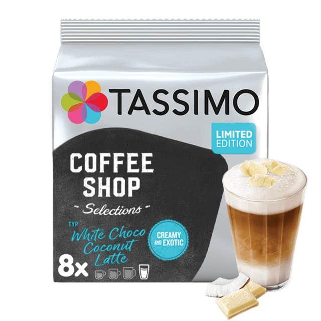 TASSIMO WHITE CHOCOLATE COCONUT LATTE Kapseln