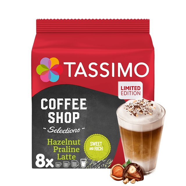 TASSIMO Hazelnut Praline Latte dosettes