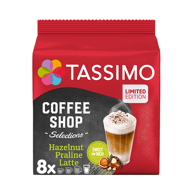 TASSIMO Hazelnut Praline Latte pods