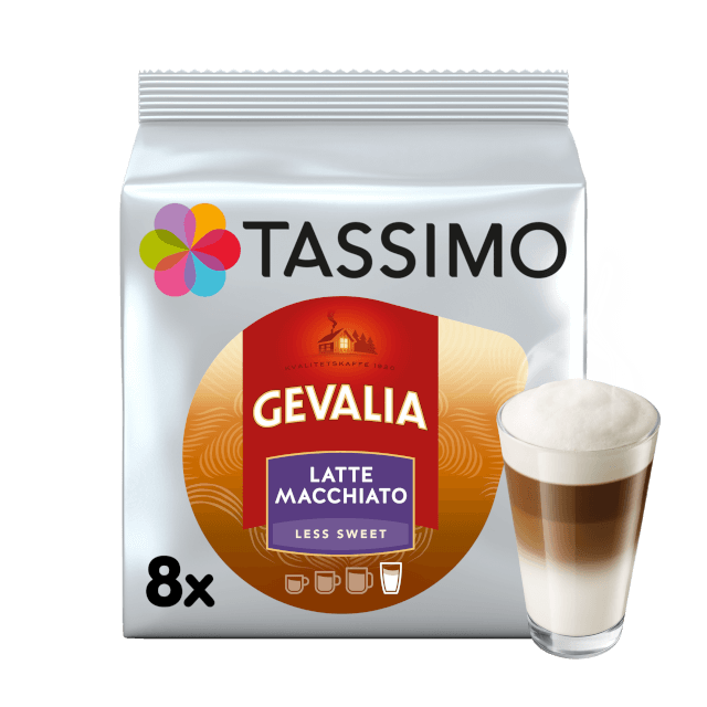 TASSIMO Gevalia Latte Macchiato Less Sweet pods