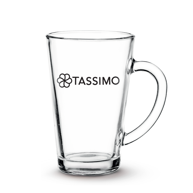 TASSIMO Latte Glasses, Pack of 2