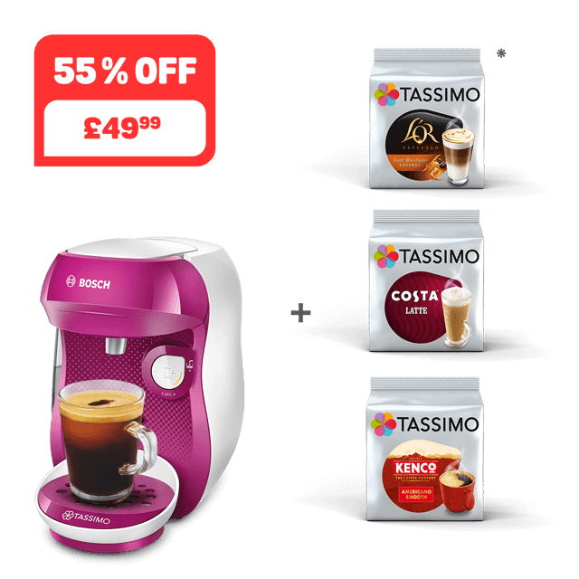 TASSIMO HAPPY - Wild purple + 3 packs