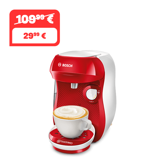 TASSIMO Happy - Red & White Kaffeemaschine