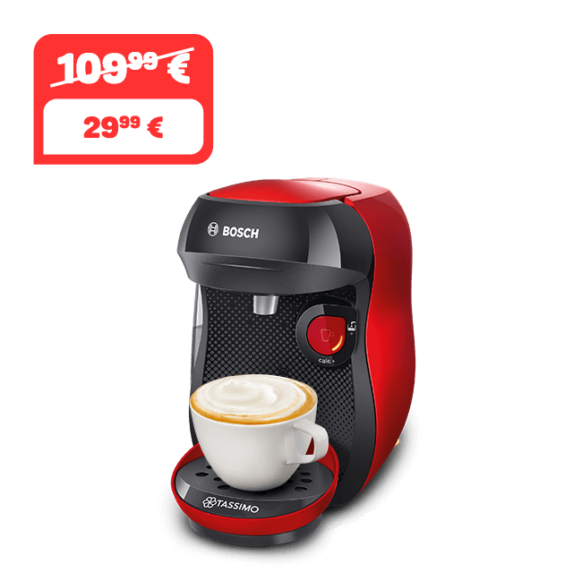 TASSIMO Happy - Black & Red Kaffeemaschine
