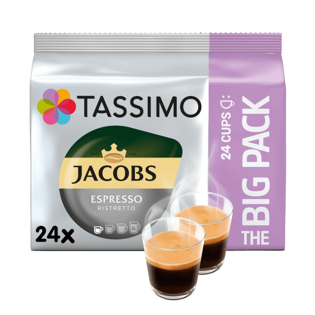 TASSIMO Jacobs Espresso Ristretto The Big Pack pods