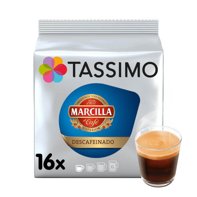 TASSIMO Marcilla Espresso Descafeinado pods