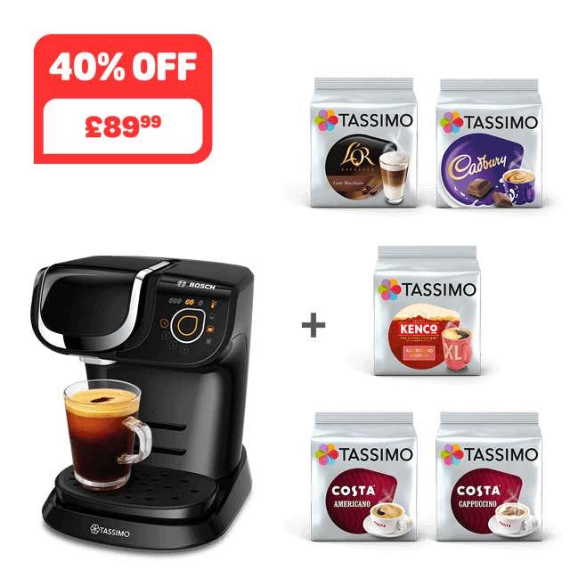 TASSIMO MY WAY 2 Black coffee machine + 5 packs