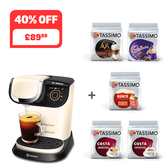 TASSIMO MY WAY 2 Cream coffee machine + 5 packs