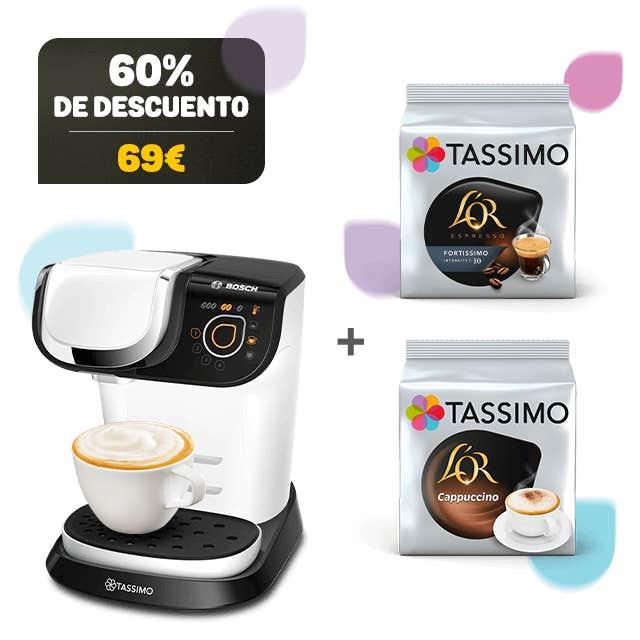 TASSIMO MY WAY 2 Blanco + 2 PAQUETES DE CAFÉ