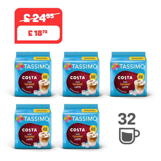 TASSIMO Costa Iced Caramel Latte - 5 coffee packs