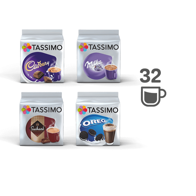 TASSIMO Sabor Chocolate Pack – 4 PAQUETES