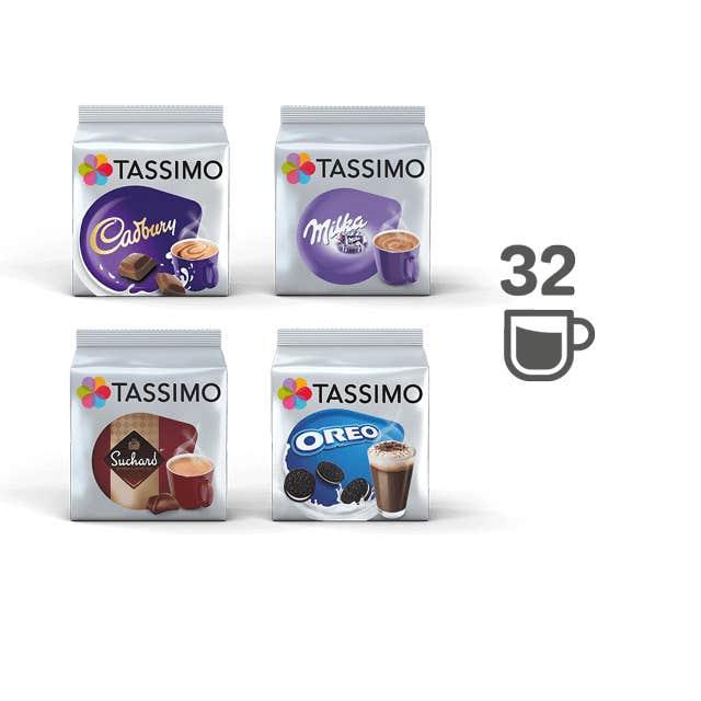 TASSIMO Assortiment Chocolat Chaud – 4 paquets