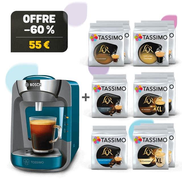 TASSIMO SUNY blue machine à café + 10 paquets