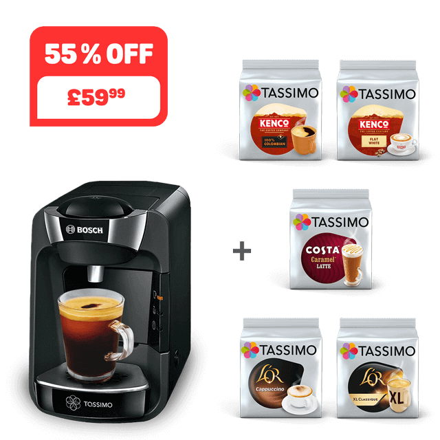 TASSIMO SUNY - black + 5 packs