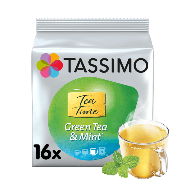 TASSIMO Tea Time Green Tea & Mint pods