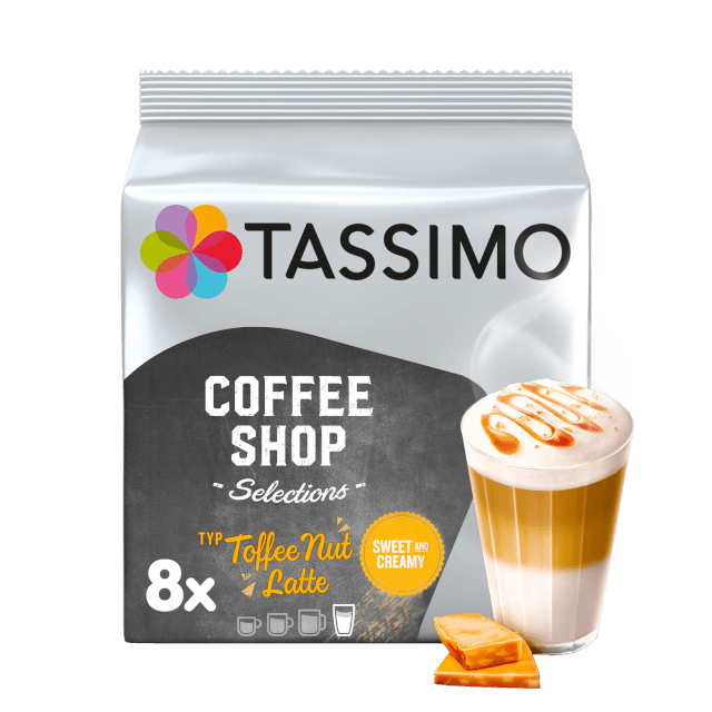 TASSIMO Toffee Nut Latte pods