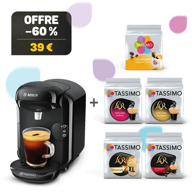 TASSIMO VIVY 2 noir machine à café + 5 paquets