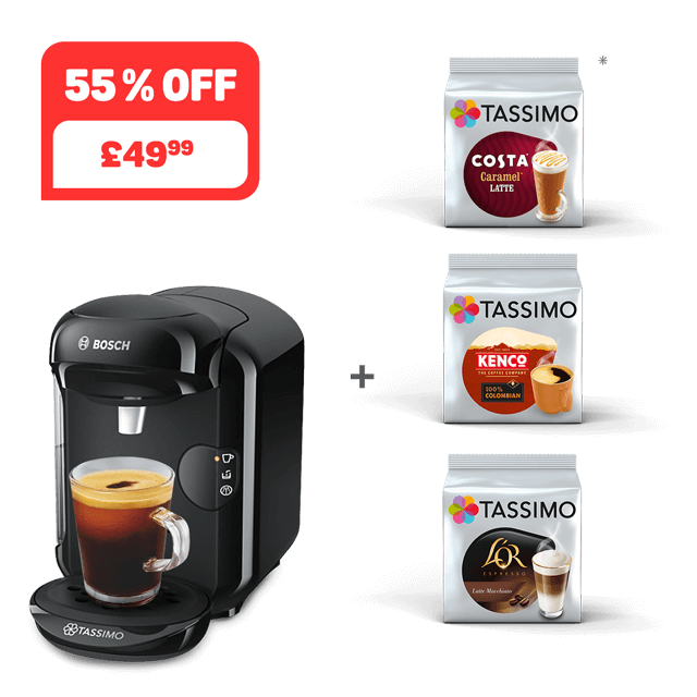 TASSIMO VIVY 2 - black + 3 packs