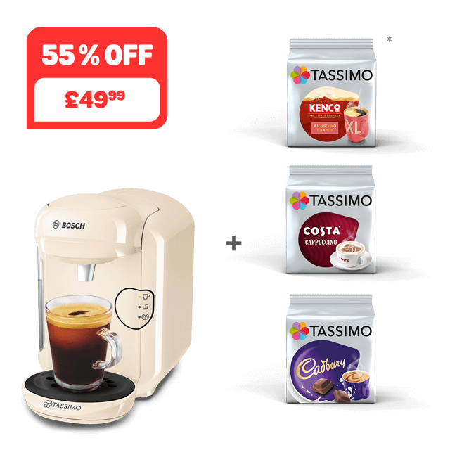 TASSIMO VIVY 2 - cream + 3 packs