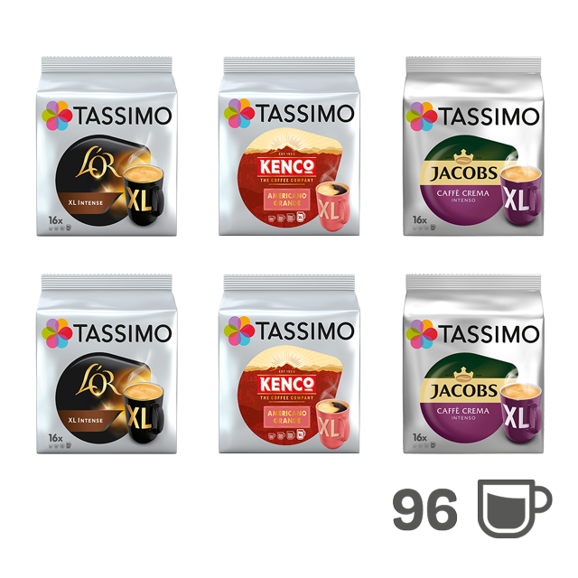 TASSIMO TASSIMO XL Paket - 6 Kaffeepackungen