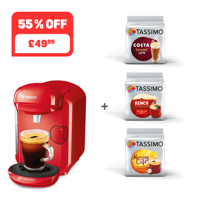 TASSIMO VIVY 2 - red + 3 packs
